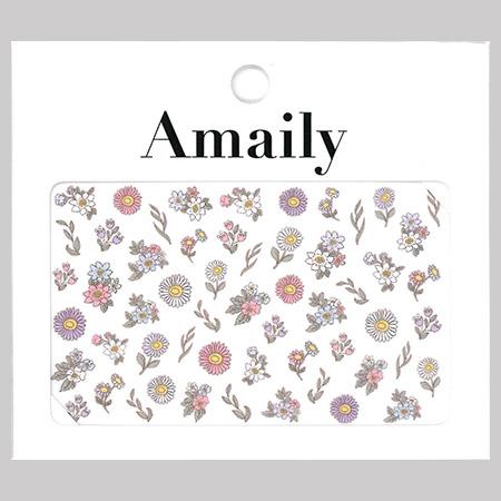 Amaily 네일 스티커 NO.3-28 팬시플라워(컬러)