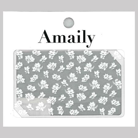 Amaily 네일 스티커 NO.3-31 작은꽃무늬(화이트)