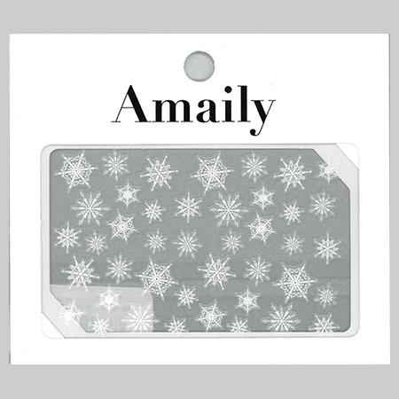 Amaily 네일 스티커 NO.3-33 눈의결정2(화이트)