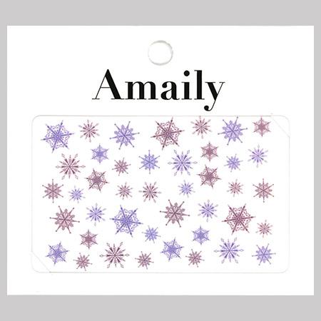 Amaily 네일 스티커 NO.3-34 눈의결정2(컬러)